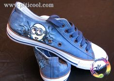 Tenisi pictati minion - Tricouri pictate, Cadouri personalizate, Handmade - Piticool ART Vans Authentic, Chuck Taylor Sneakers, Chuck Taylors, Shoes, Art, Tennis, Art Background, Zapatos, Shoes Outlet