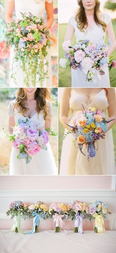 30 Utterly Romantic Décor Ideas for a Dreamy Pastel Wedding! Pastel Bouquets