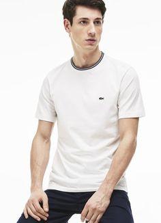Men's Striped Collar Cotton Jersey T-shirt