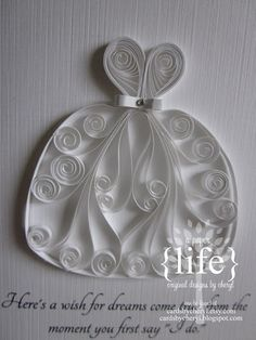 Paper quilling wedding dress