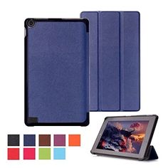 "From 9.89 Mofred Fire 7"" 2015 Blue Case - Ultra Slim Lightweight Smart Stand Case Cover For Amazon Kindle Fire 7 Inch Display Tablet (5th Generation - 2015 Release Only)  Screen Protector  Capacitive Stylus Pen (3 In 1)"