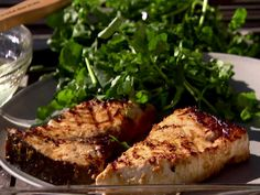 Indonesian Grilled Swordfish Recipe : Ina Garten : Food Network (use with chicken instead) Fish Dishes, Seafood Dishes, Fish And Seafood, Seafood Recipes, Salmon Recipes, Tasty Dishes, Antipasto, Ceviche, Grilling Recipes