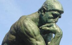 iconsaysplz: patrick's just thinking with the thinker. we're thinking. Thinking with the thinker