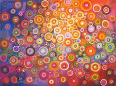 Rainbow circles by Natasha Tayles | acrylic painting | Ugallery Online Art Gallery