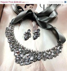 Bridesmaid jewelry Set  bridal necklace vintage by GlamDuchess, $26.95