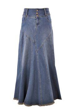 Style J Fantastic Flared Jupe Jean Longue-12(UK) 40(EU) 28(Taille): Amazon.fr: Vêtements et accessoires