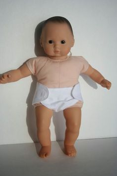 Free pattern and tutorial on how to make a diaper for Bitty Baby + Twin Doll