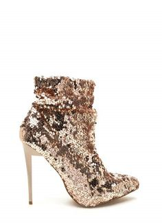 Gold sequined heels boots. Perfect for new years party or clubbing out outfits! ©yuvastore