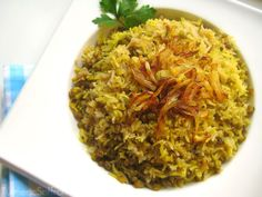 Turmeric & Saffron: Maash Polow - Rice with Mung Beans