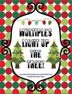 MULTIPLES LIGHT UP THE TREE - TeachersPayTeachers.com