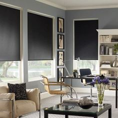 our signature blackout roller shades are perfect for eliminating most of the light from entering your