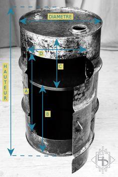 Dimensions DIAMETRE : 370mm HAUTEUR : 590mm A : 430mm B : 350mm C : 200mm D : 260mm POIDS : 10kg Divers Traitement extérieur vernis mat. Intérieur a