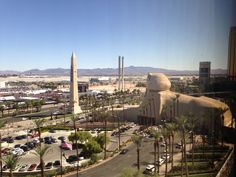 View from our room in Luxor: the iHeart radio festival!