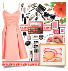 """Pretty In Peach"" by angelstylee ❤ liked on Polyvore featuring Too Faced Cosmetics, Americanflat, Borghese, Bobbi Brown Cosmetics, Perricone MD, Sigma Beauty, Nude by Nature, Chanel and Clinique"