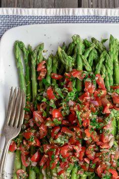 Easy Asparagus Recipe with Mediterranean Salsa