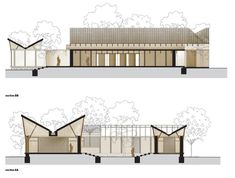 'sP+a's Buddhist Centre prudently and intelligently creates soaring spaces with sustainable design' Buddhist Architecture, Tropical Architecture, Vernacular Architecture, Landscape Architecture Design, Green Architecture, Architecture Details, Architecture Concept Diagram, Architecture Presentation Board, Sustainable Schools