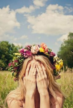 style | brightly colored floral crown for the summer bride