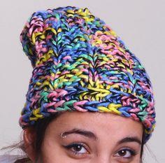 Colourful Beanie Hat Unisex İnteresting Beanie Hat by duduhandmade