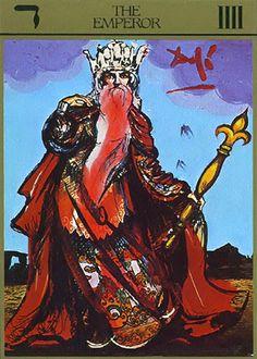 The Emperor Card : Salvador Dalí Universal Tarot † #art #cartomancy #divination #MajorArcana #Emperor #Tarot #TarotCards #TheEmperor #Dali #SalvadorDali #UniversalTarot