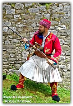 Φορεσιά Αγωνιστή του 1821 Φορεσιές  & Kοσμήματα από το  Eργαστήρι  Νίκος  Πλακίδας Κατοχή Μεσολογγίου  TK 300 07 GR Τηλ 26320 93218  κιν, 6944 597 806 www.foustanela.gr