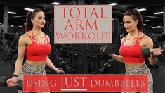 Full Arm Workout You can build beautiful arms at home or at the gym! Grab some dumbbells and an adjustable bench, and you're ready to train! Arm Workouts At Home, Body Workout At Home, Fit Board Workouts, Body Workouts, Fitness Workouts, Girl Arm Workout, Dumbbell Arm Workout, Bodybuilding Workouts, Women's Bodybuilding