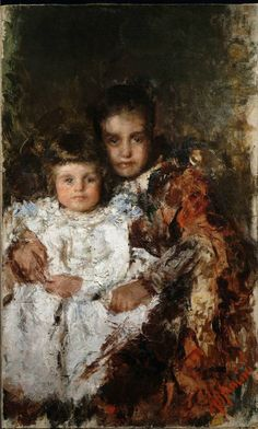 Antonio Mancini 1852-1930 | Italian Academic painter