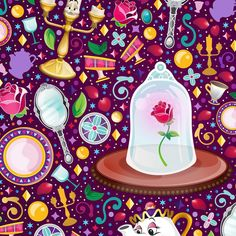 Beauty and the Beast enchanted objects Disney Pixar, Disney Nerd, Disney And Dreamworks, Disney Love, Disney Magic, Walt Disney, Princess Belle, Beauty And The Beast Wallpaper, Apple Watch Wallpaper
