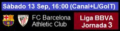 FC Barcelona vs Athletic Club - Liga BBVA Jornada 3