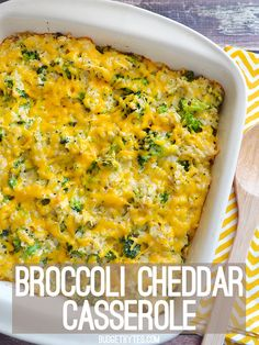 """Homemade Broccoli Cheddar Casserole with no """"cream of"""" soups! - BudgetBytes.com"""