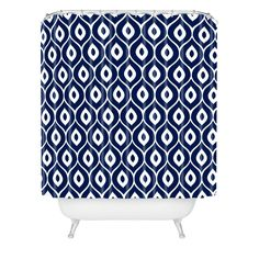 Buy Shower Curtain with Leela Navy designed by Aimee St Hill. One of many amazing home décor accessories items available at Deny Designs. Modern Shower Curtains, Traditional Baths, Orange Design, Vintage Room, Custom Furniture, Home Decor Accessories, Home Furnishings, Home Goods, New Homes
