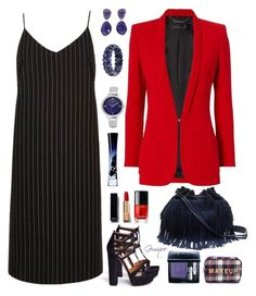 """""""Suiting?"""" by gemique ❤ liked on Polyvore featuring River Island, Aquazzura, Barbara Bui, Nine West, Diane Von Furstenberg, Chanel, Giorgio Armani, Christian Dior, Forever 21 and NOVICA"""