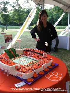 Grooms Clemson University Death Valley Football Stadium Cake ( For the Wedding After Party of Course) www.DessertsByNoelleAlmond.com