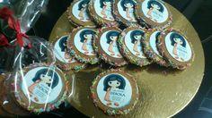 Galletas de mantequilla de cacahuete. Receta de 'La receta de la felicidad' Publi de mi tienda 'Calzados Debora' en papel comestible de Fotopastel.com