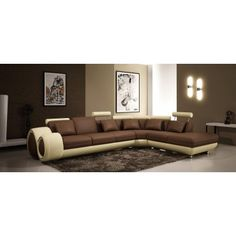 Malibu - Modern Leather Sectional Sofa with Recliner - SALE