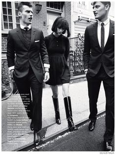 Reimagined-Models Vladimir Ivanov and Demy Matzen take on fashions for the September 2014 issue of GQ Australia. Posing for Pamela Hanson's lens in looks from Gucci, Prada, Paul Smith and others, the models 60s Inspired Fashion, Sixties Fashion, 1960s Mod Fashion, Trendy Fashion, Vintage Fashion, Fashion Trends, Sporty Fashion, Ski Fashion, Modern 60s Fashion