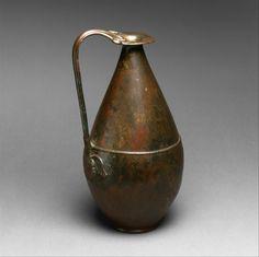 Phoenician-style ewer | Iron Age | The Metropolitan Museum of Art   Period: Iron Age Date: ca. 7th–6th century B.C. Geography: Iberian Peninsula Medium: Bronze