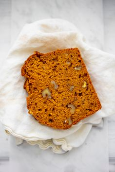 Fluffy Vegan Pumpkin Loaf - HealthyHappyLife.com Pumpkin Loaf, Vegan Pumpkin, Pumpkin Puree, Loaf Recipes, Easy Baking Recipes, Pumpkin Spice Cupcakes, Fall Baking, Vegan Baking, Something Sweet