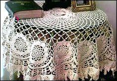 скатерти крючком   вязание