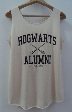 Hogwarts Alumini Tshirt Pop Punk Rock Tank Top Vest Women T shirt Movie T-Shirt SizeS,M,L on Etsy, $15.00