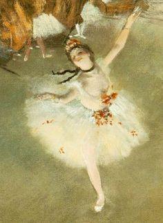 détaille ,Ballet - L'étoile 1878, pastel sur papier