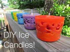 DIY Miniature Ice Candles!