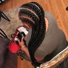 New braids afro black girls Ideas 4 Feed In Braids, Feed In Braids Hairstyles, Big Box Braids, Weave Hairstyles, Girl Hairstyles, Black Girl Braids, Braids For Black Hair, Girls Braids, Braids For Black Women Cornrows