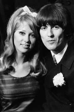Pattie Boyd-Harrison and George Harrison