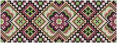 Bunad, Smykker, vev & rosemaling: Kvarde korssting mønster Cross Stitch Art, Cross Stitch Borders, Cross Stitching, Cross Stitch Patterns, Hardanger Embroidery, Folk Embroidery, Cross Stitch Embroidery, Mosaic Patterns, Beading Patterns