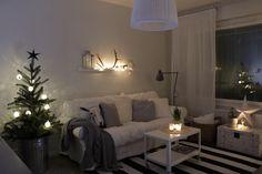 Livingroom, Christmast decor, lights, candles