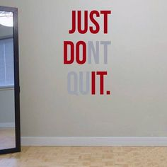 """""""Just Don't Stop"""" Gym Workout Motivation Quote Words Vinyl Wall Art Sticker Mural Wallpaper Home Decoration Just Do It - Web Sitem Motivational Quotes For Working Out, Inspirational Quotes, Dont Quit Quotes, Wall Stickers, Wall Decals, Sticker Vinyl, Wall Mural, 3d Wall, Quitting Quotes"""