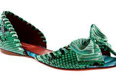 61dd577f tendencia_zapato_verde_205517159_700x468 Piel De Cocodrilo, Zapatos Verdes,  Zapatos Planos, Tacones, Tendencias, Missoni
