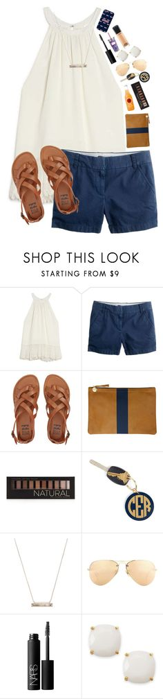 """Going to Florida this summer!!"" by lacrosse-19 ❤ liked on Polyvore featuring OTTE, J.Crew, Billabong, Clare V., Forever 21, Hartford, Vineyard Vines, Kendra Scott, Ray-Ban and NARS Cosmetics"
