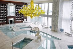 The Spa at the Viceroy Miami designed by  Philippe Starck.