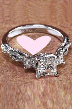 Engagement Rings : engagement ring designers princess cut diamond twist white gold